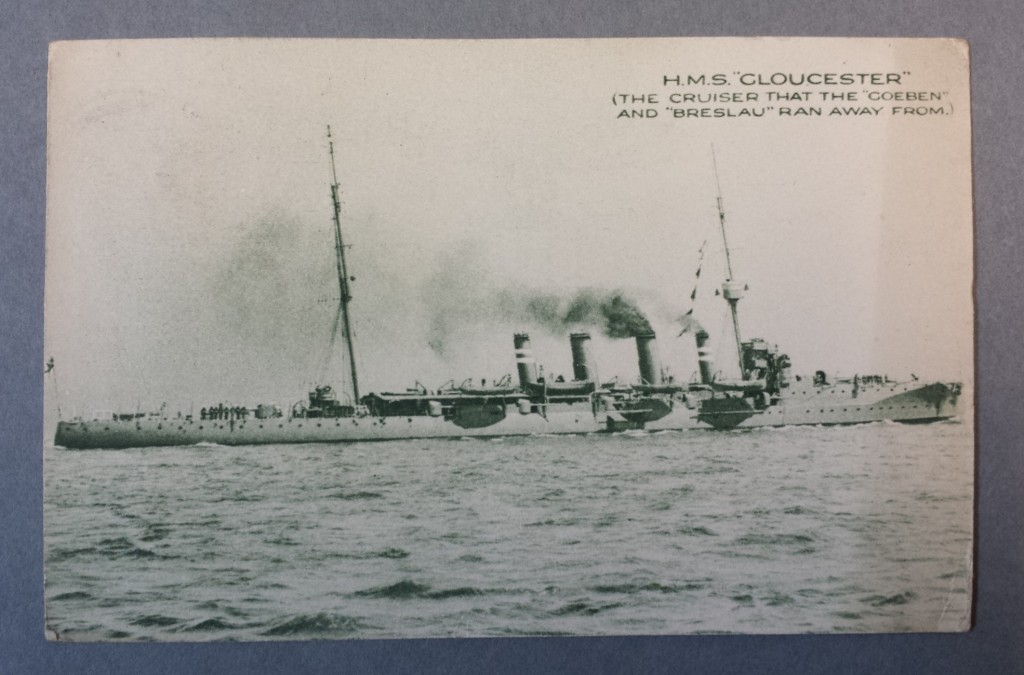 "H M S Gloucester - ""The Cruiser the Goeben and Breslau ran away from"""