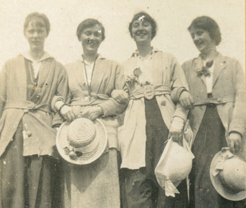 Rosamund, Ben and Dreda Berryman with Nell Fielding, Spring 1916