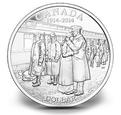 Canadian One Dollar Coin commemorating WW1