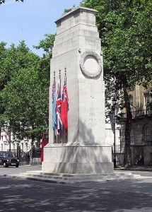 The Cenotaph, London. <br/> By Adrian Pingstone (Own work) [Public domain], via Wikimedia Commons