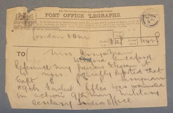Telegram 1915 05 12