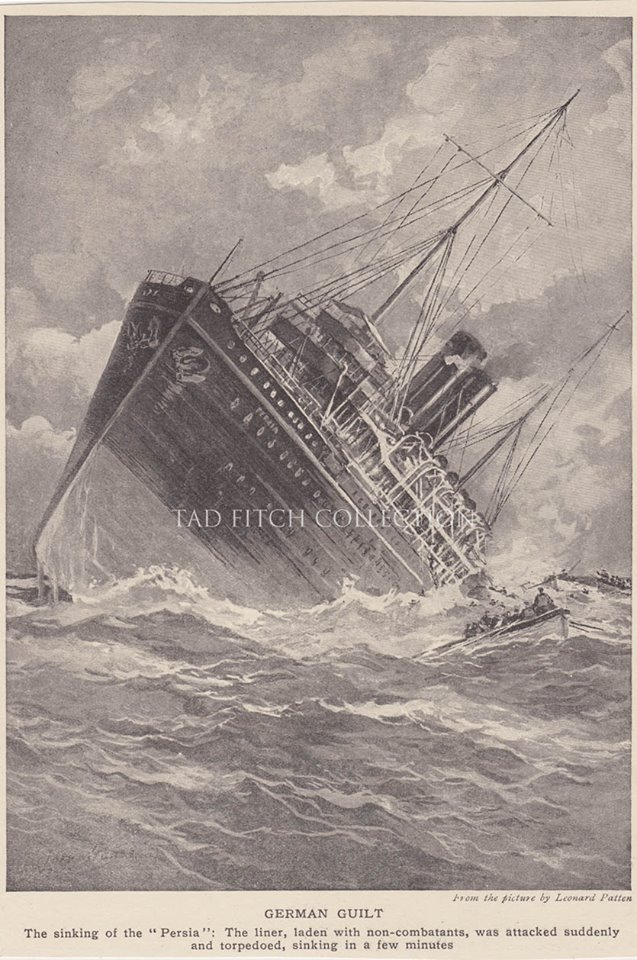 The Sinking of the Persia (Tad Fitch Collection)