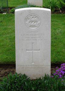 Ivan Bennett's grave in Thiepval, France