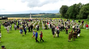 Visitors to Theipval Anglo French Cemetery, 1st July 2016, commemorating the centenary of the first day of the Somme