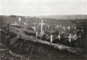 Graves in Trones Wood just after the war: Michelin Guide to the Somme Battlefields