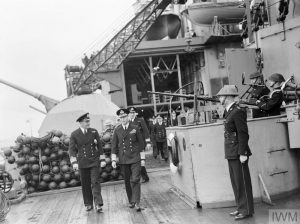 George VI on HMS Malaya, 1942