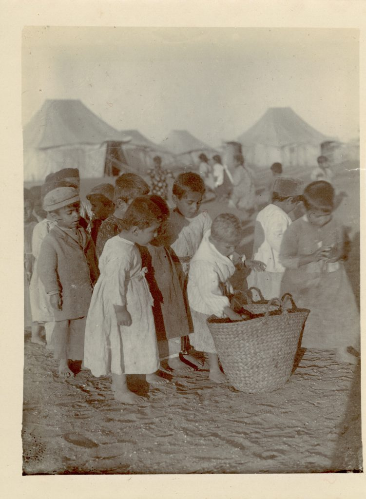 Captioned 'Armenian Refugees Port Said' - Egypt 1916